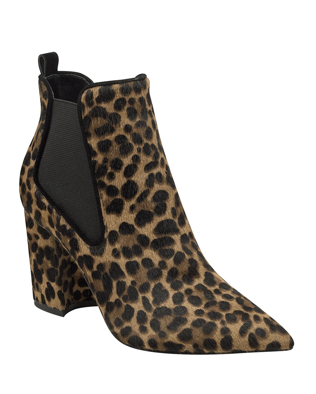 Tacily Leopard Chelsea Booties