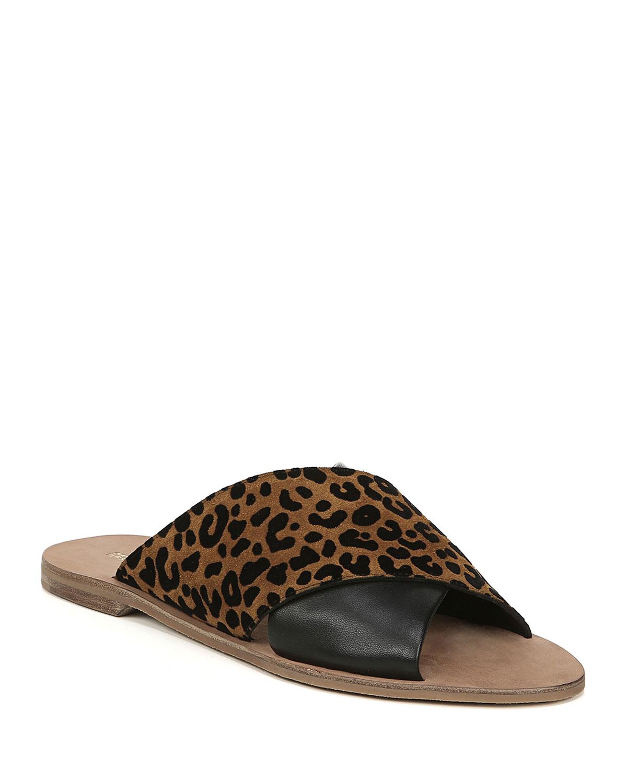 Baile Leopard-Print Suede Sandals