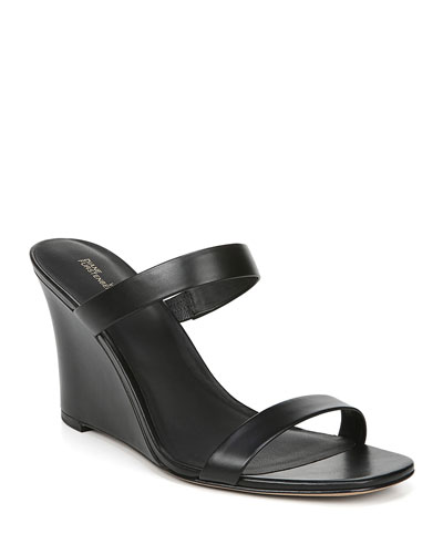 Vivienne Leather Slide Sandals