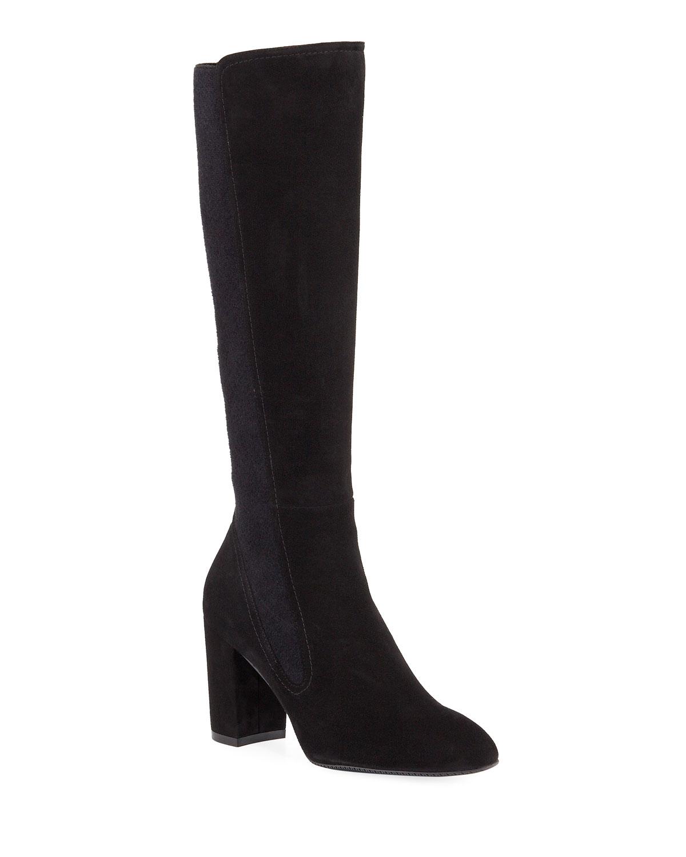 Livia Stretch Suede Knee Boots