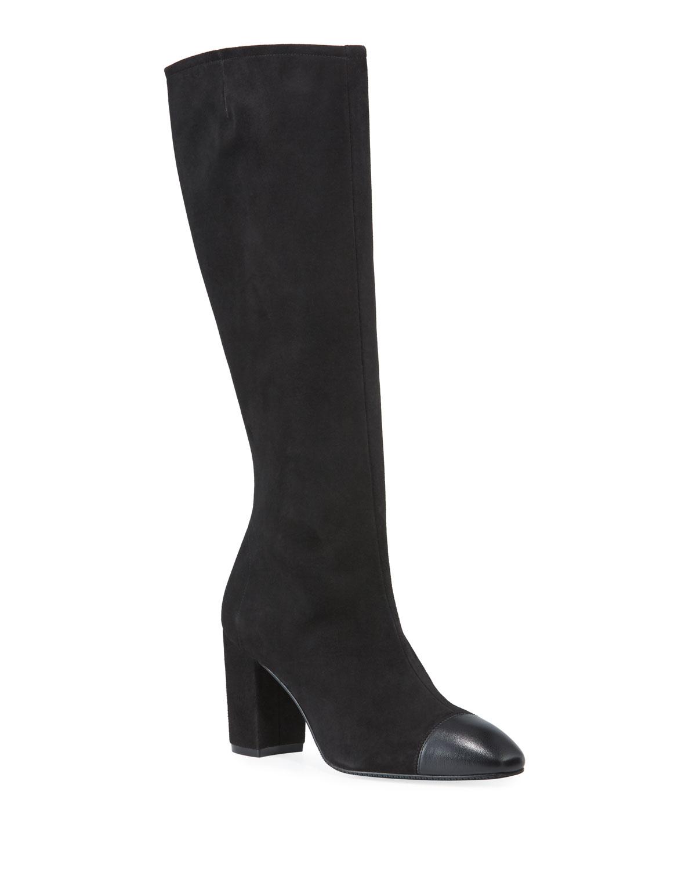 Jacinda Suede & Napa Leather Knee Boots