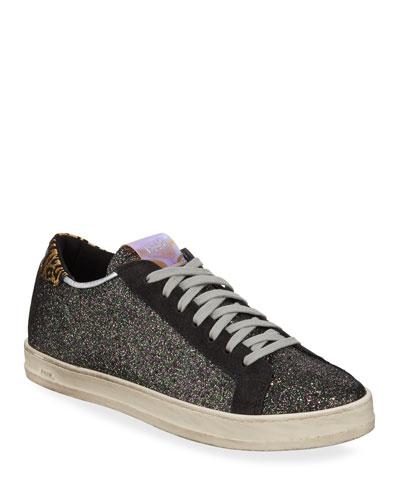 John Low-Top Glitter Sneakers