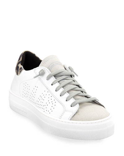 Thea Low-Top Sneakers with Leopard Back