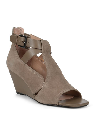 Sila Suede Wedge Sandals