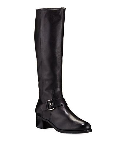 Tall Napa Buckle Riding Boots