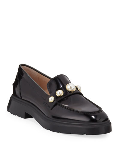 Suki Patent Pearly Loafers