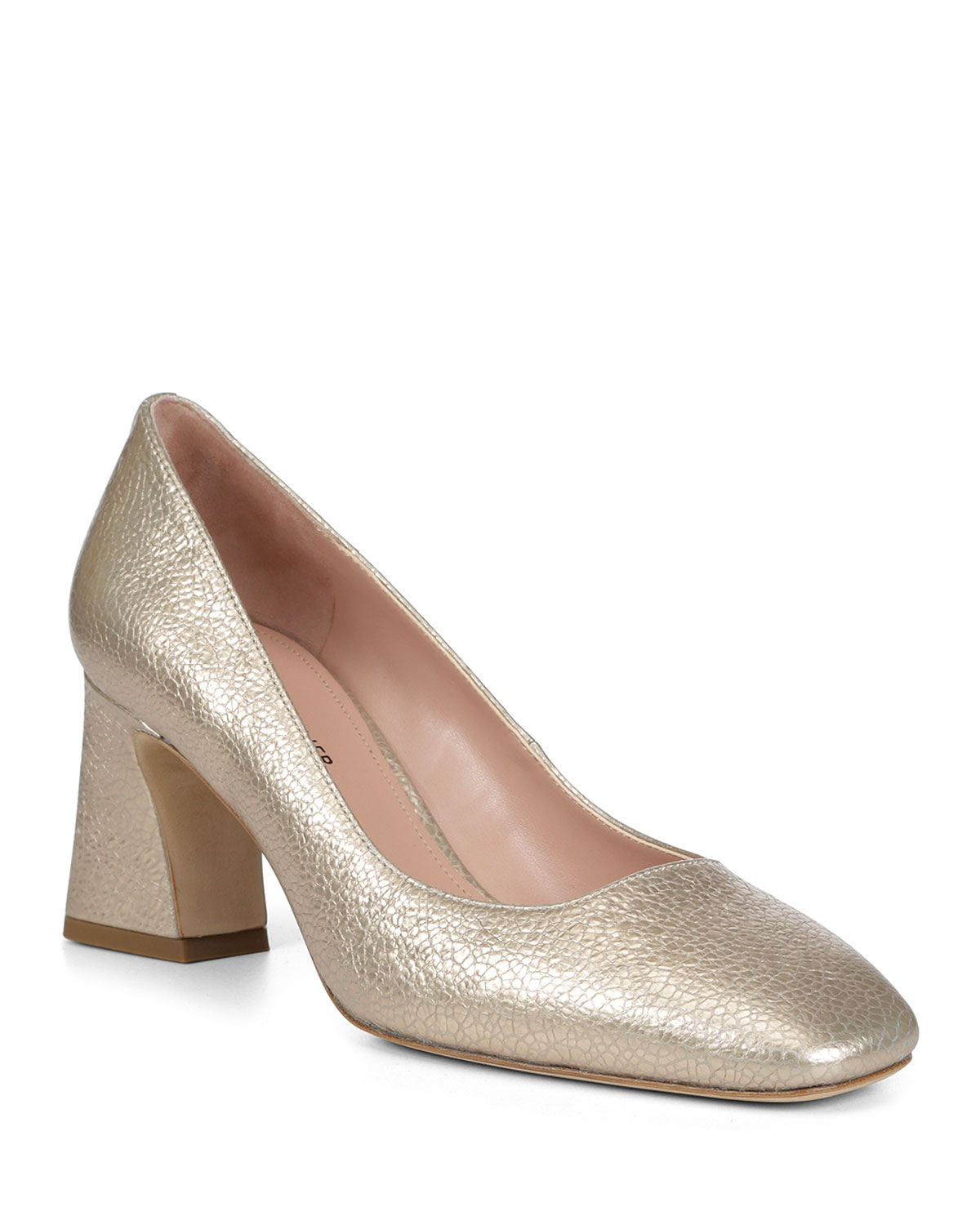 Ellio Metallic Square-Top Pumps