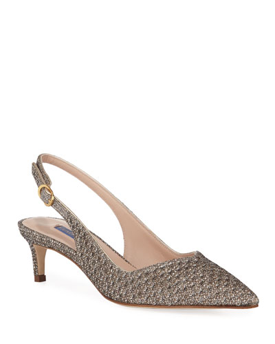 Edith Metallic Slingback Cocktail Pump
