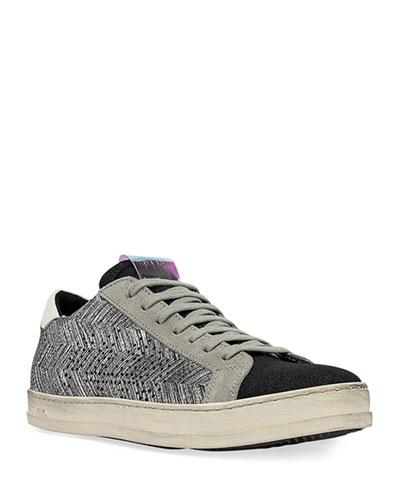 John Chevron Lace-Up Sneakers