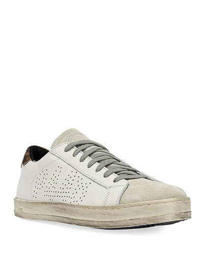 John Leather & Suede Low-Top Sneakers