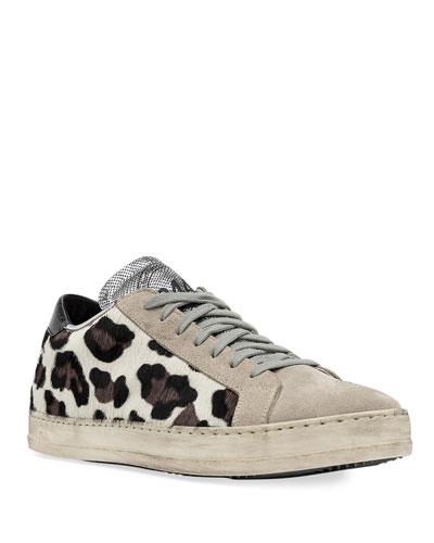 John Leopard Low-Top Sneakers