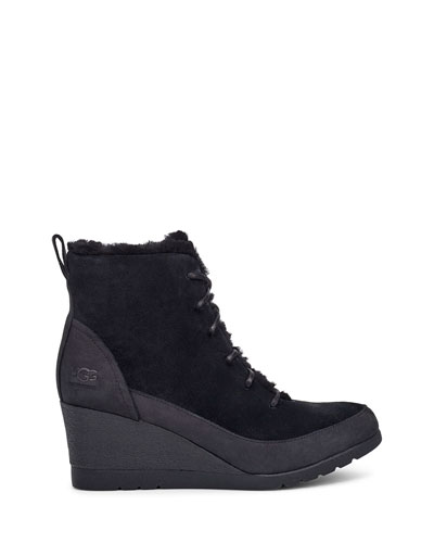 Bridgit Waterproof Wedge Shearling Booties
