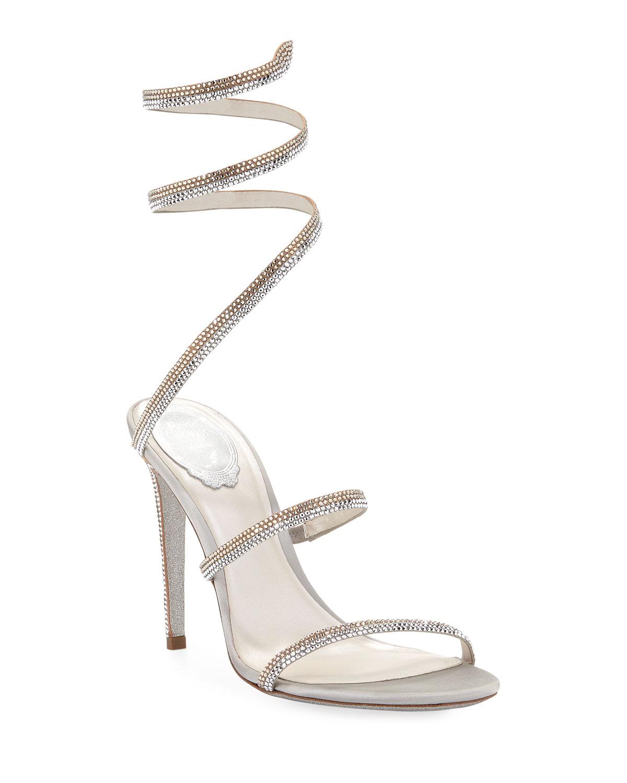 Snake-Coil Crystal Sandals