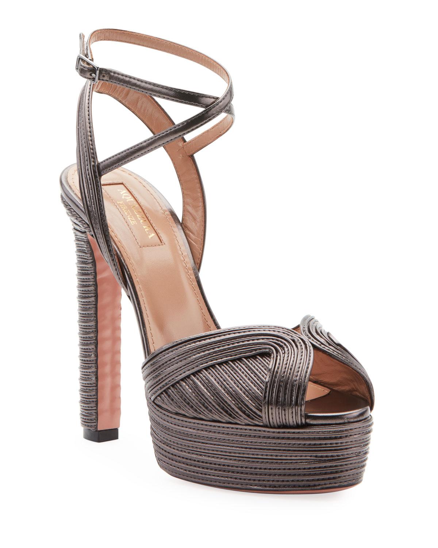 Caprice Metallic Platform Sandals