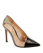 Gianvito Rossi Plexi Patent Clear-Sided Pumps