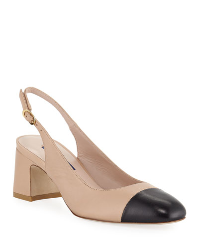 Loraina Two-Tone Slingback Pumps