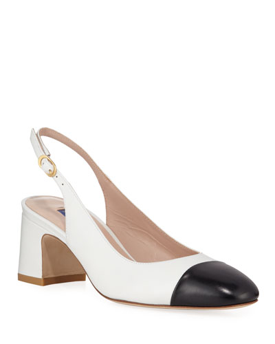 Loraina Two-Tone Leather Pumps
