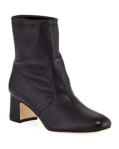 Niki Stretch Leather Booties