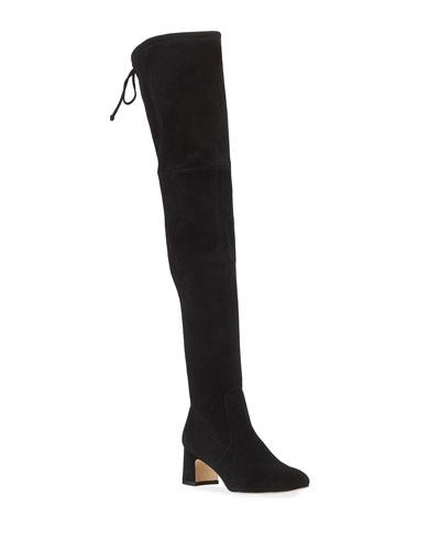 Kirstie 60mm Suede Over-The-Knee Boots