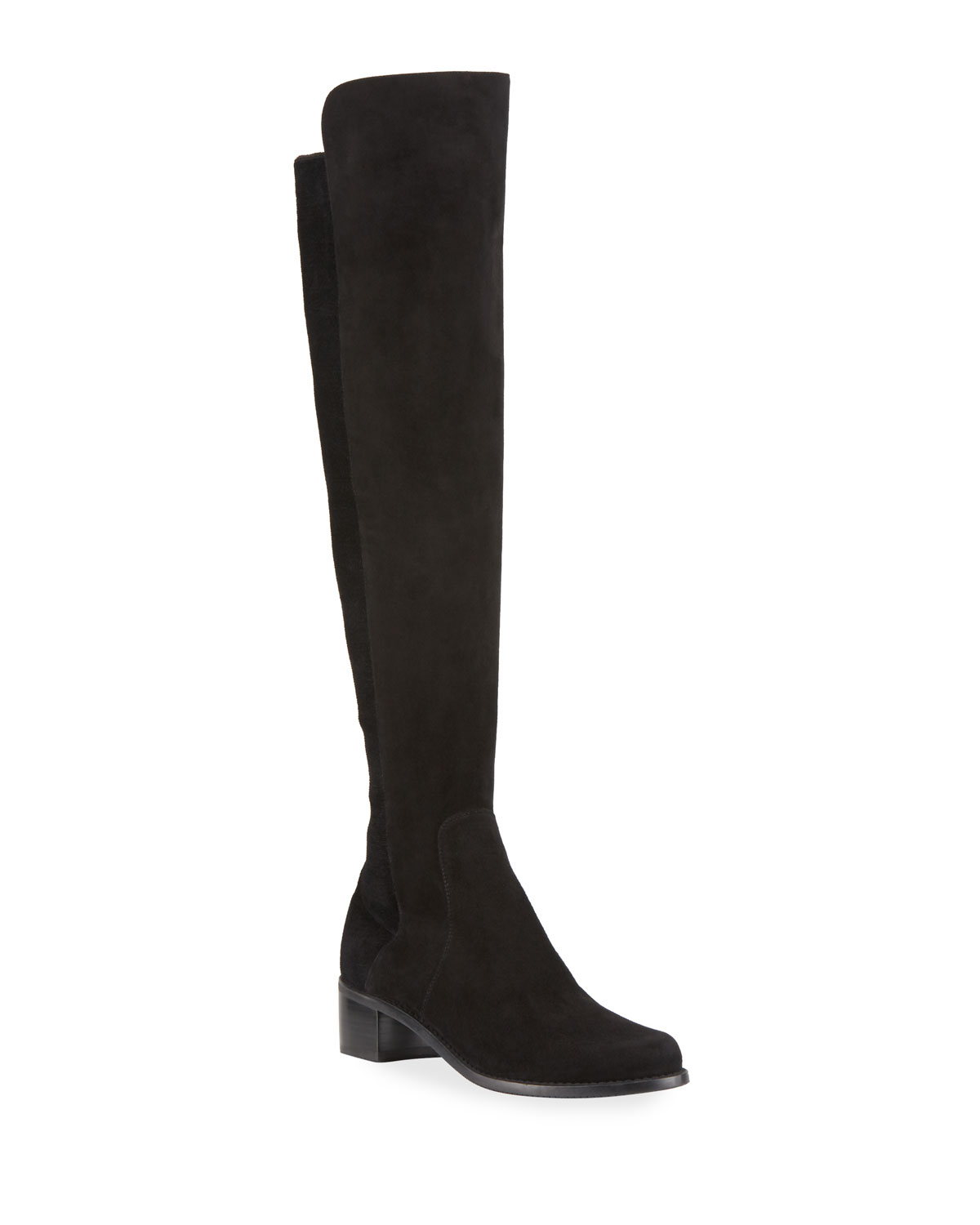Reserve Stretch-Suede Knee Boots