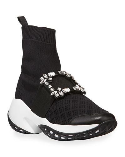 Viv' Run Crystal Sneaker-Style Booties