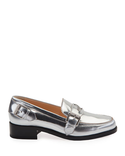 Monmoc Metallic Leather Loafers
