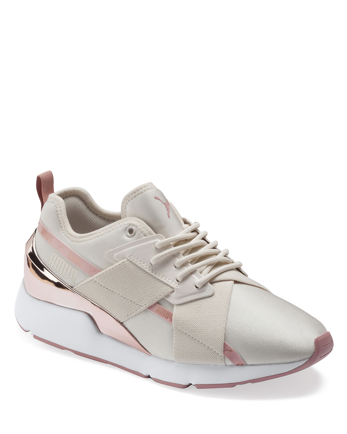 Muse Metallic Lace-Up Sneakers