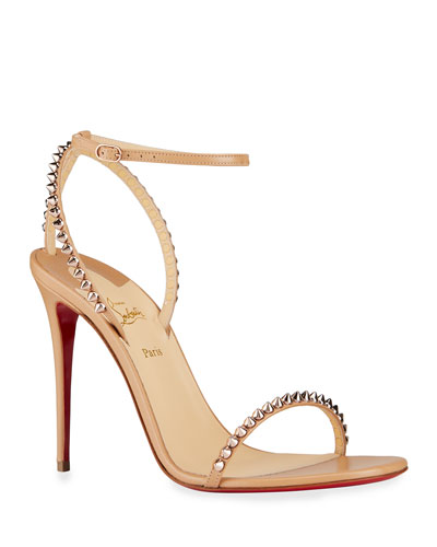 So Me Spike Red Sole Sandals
