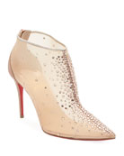 Christian Louboutin Contella Embellished Red Sole Booties