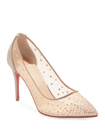 Follies Shimmery Cocktail Red Sole Pumps