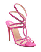 Christian Louboutin Renee Strass Red Sole Sandals