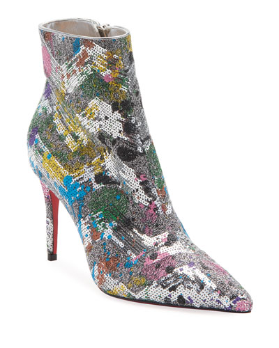 So Kate Glitter Red Sole Booties