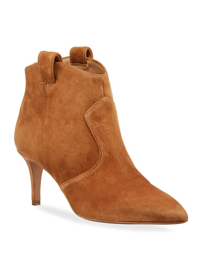 Lexi Suede Tabbed Booties