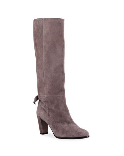 Rachel Suede Bow Boots