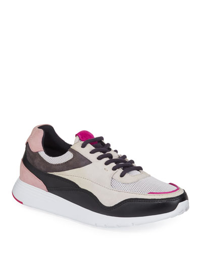 Grand Crosscourt Mixed Leather Trainer Sneakers