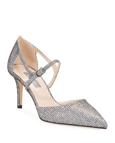 Phoebe Iridescent Glitter Pumps