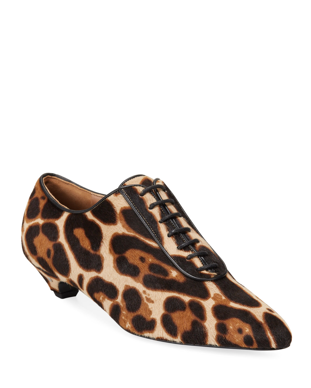 Tizia Leopard Lace-Ups