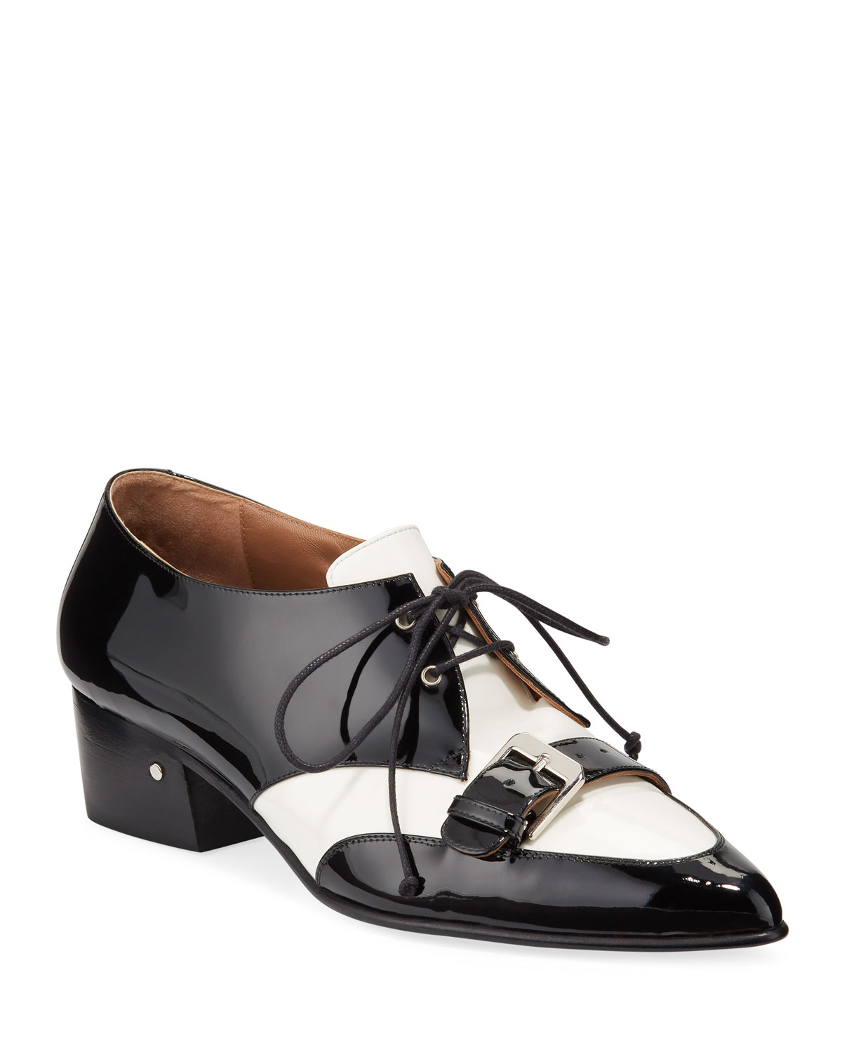 Voltaire Two-Tone Belted Lace-Ups