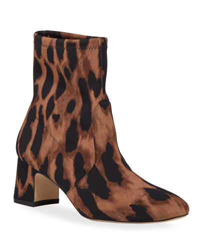 Niki Leopard Stretch 60mm Boots