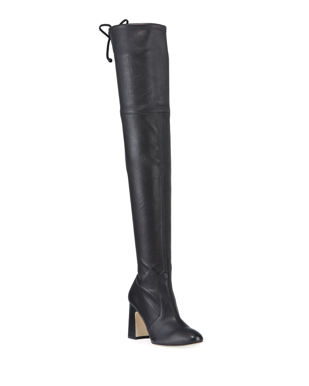 Kirstie Stretch Leather Over-The-Knee Boots