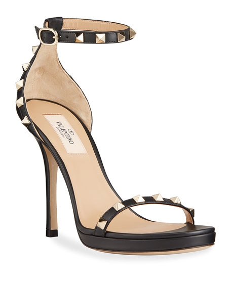 Valentino Garavani Rockstud Leather Platform Stiletto Sandals