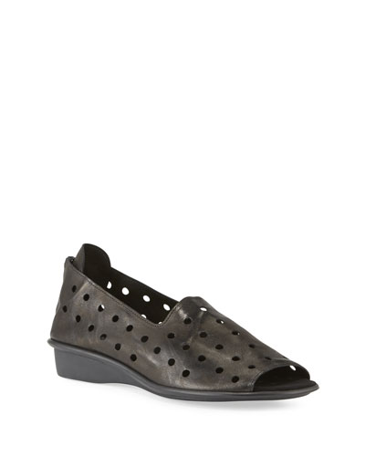 Edwina Perforated Comfort Sandals