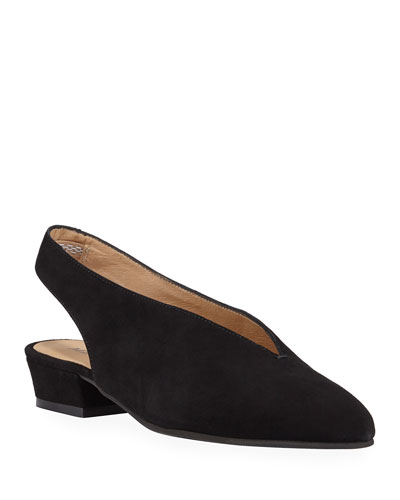 Alexis Low-Heel Slingback Pumps, Black