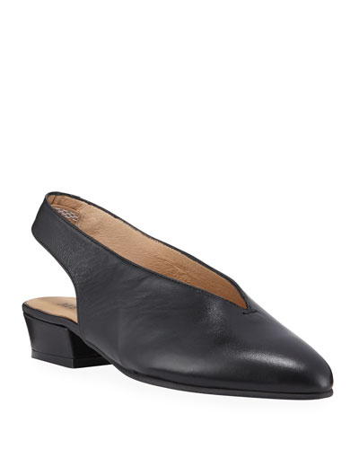 Alexis Slingback Leather Pumps