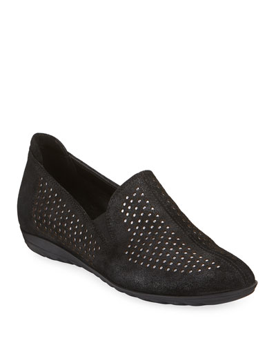 Bain Casual Perforated Flats, Black