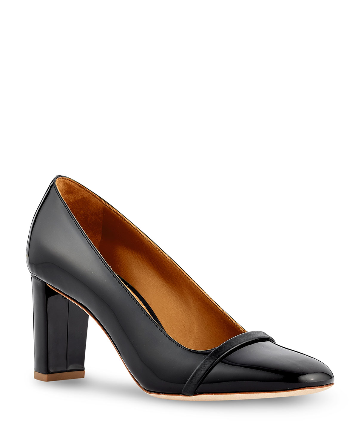 Lorena Patent Leather Block-Heel Pumps