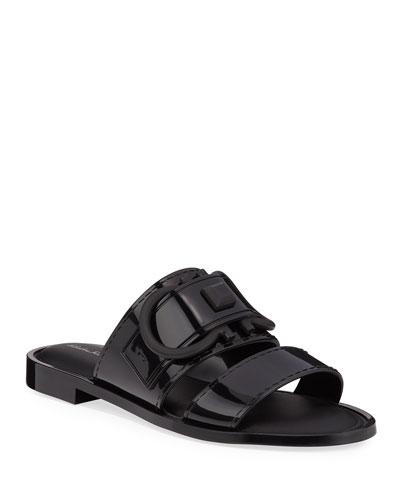 Taryn Jelly Logo Slide Sandals