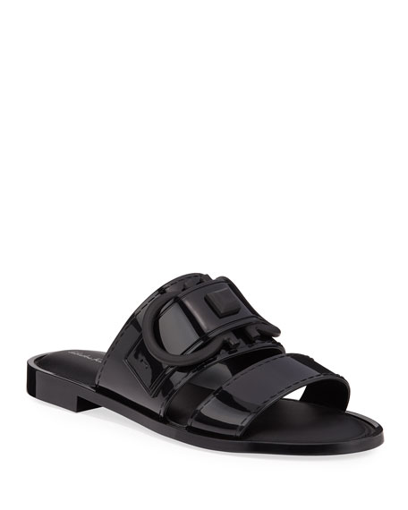 Salvatore Ferragamo Taryn Jelly Logo Slide Sandals