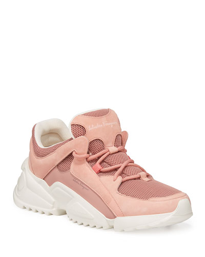 Skyla Mixed Leather Trainer Sneakers
