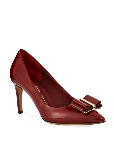 Zeri Patent Leather Vara Bow Pumps